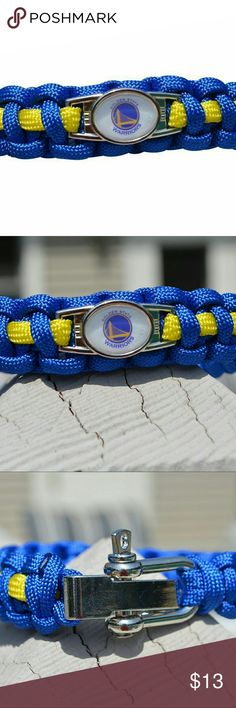 Infinity Collection Golden State Warriors Bracelet Golden State Warriors Paracord Jewelry- Golden State Warriors Paracord Bracelet - NBA Basketball Jewelry  WHO LOVES BASKETBALL?! Show your Pride for the Warriors with this sports bracelet. This listing is for one Golden State Warriors charm paracord bracelet. 7 inches in length with an additional 2 inch extension. You'll be in a hurry to show it off to your friends and family!  Perfect Gift for Warriors Basketball Fans!! Jewelry Bracelets