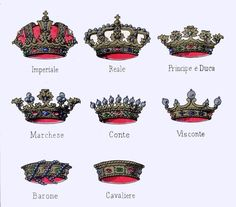 corone nobiliari