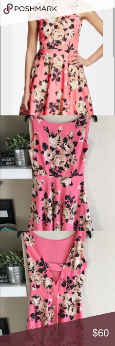 Betsy Johnson pink ➕ black fit + flare dress Only worn once to the Kentucky derby. Love this dress and sad to part with it but I want it to find a new home 🎀 size 2 Betsey Johnson Dresses Mini