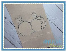 INSTANT DOWNLOAD 2097 Bunny 5 Embroidery Design applique design in digital format for embroidery machine by Applique Corner