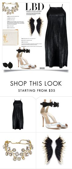 """Little Black Dress"" by celeste-menezes on Polyvore featuring Boohoo, Gianvito Rossi, Yves Saint Laurent and LBD"