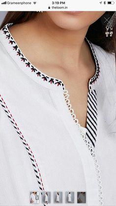 Neck Designs For Suits, Neckline Designs, Dress Neck Designs, Stylish Dress Designs, Designs For Dresses, Churidar Neck Designs, Salwar Designs, Kurta Designs Women, Kurti Sleeves Design