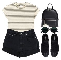 """""""#14789"""" by vany-alvarado ❤ liked on Polyvore featuring Monki, Calvin Klein, BP. and Converse"""
