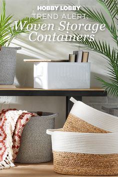 Clear some space in your home with new cotton and rope containers from the Spring Shop™. Storage Containers, Spring Cleaning, Getting Organized, Home Organization, Decorating Tips, Laundry Room, Diy Furniture, Farmhouse Decor, Diys
