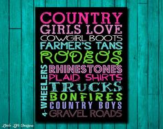 Country Girl. Cowgirl Sign. Country Chic. by LittleLifeDesigns
