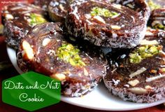 Date and Nut Cookie!! no bake!! myheartbeets.com