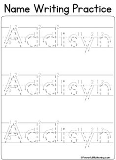 Adrian Worksheet - Twisty Noodle | Preschool worksheets ...