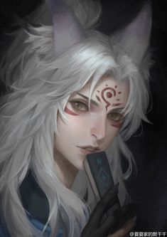 Onmyouji Shouyou hand-painted summer home of the silent thousand / painting Fantasy Male, Anime Fantasy, Fantasy Girl, Chica Anime Manga, Anime Guys, Anime Art, Fantasy Inspiration, Character Design Inspiration, Dnd Characters