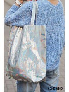 Hologramm PU Einkaufstasche | Choies