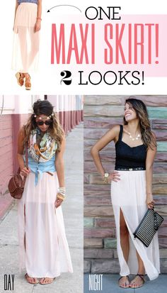 1 Maxi Skirt! 2 Looks! - Charlotte Russe Blog