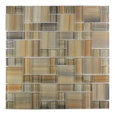 Handicraft II Random Sized Glass Mosaic Tile in Glazed  Desert