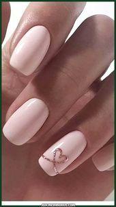Beautiful collection of heart nail designs - 70 photos - Our nail . , Beautiful collection of heart nail designs - 70 photos - Our nail Pink Nail Art, Cute Acrylic Nails, Acrylic Nail Designs, Cute Nails, Pretty Nails, Nail Art Designs, Nails Design, Glitter Nails, Elegant Nail Designs
