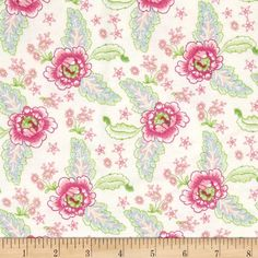 Designed by Nadene Naude, this soft, double napped (brushed on both sides)… Shades Of Green, Fabric Design, Flannel, Sewing Projects, Green Aqua, Flame Retardant, Quilts, Cream, Floral