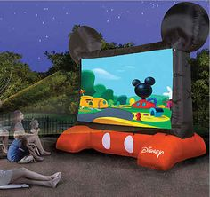 Disney-Themed Inflatable Outdoor Movie Screen