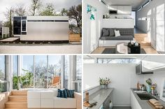 Jeff Wilson has created Kasita, a modern tiny house that measures in at just 352 square feet and can be used as a guest house, office or a studio. Tiny House Layout, Tiny House Design, House Layouts, Modern Tiny House, Tiny House Plans, Tiny House On Wheels, Architecture Romane, Architecture Baroque, Small Space Living