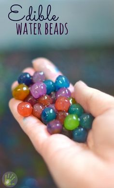 Edible water beads; a safer alternative to traditional water bead play - Site also has lots of stuff for kids