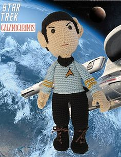 A crochet pattern for Dr Spock. The pattern is available in Spanish on this blog.