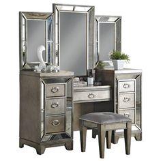 Avalon Furniture Lenox Vanity with Mirror