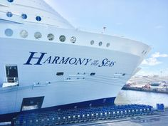 Harmony of the seas! The most awesome cruise ship in the world! Please let me back onnnnn! Cruise Ship Reviews, Harmony Of The Seas, Royal Caribbean Cruise, Pose For The Camera, Cruise Ships, Cruise Travel, Tours, Ocean, Buckets