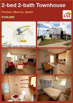 2-bed 2-bath Townhouse in Roldan, Murcia, Spain ►€150,000 #PropertyForSaleInSpain