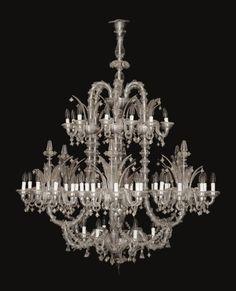 An italian glass chandelier murano 19th century lighting an impressive venetian cut glass sixty four light cioche chandelier murano aloadofball Choice Image