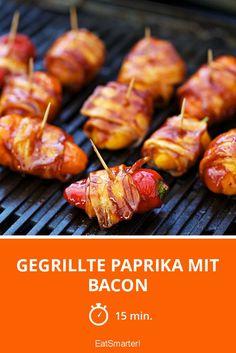 Gegrillte Paprika mit Bacon