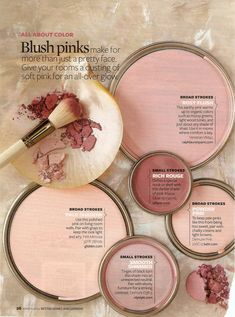 Blush pink color palette of your dreams Interior Paint Colors, Paint Colors For Home, Pink Paint Colors, Pink Color, Blush Pink Paint, Best Bedroom Paint Colors, Decoration Inspiration, Color Inspiration, Decor Ideas