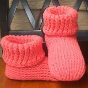 Knit Look Slipper Boots Crochet ADULT - via @Craftsy