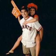 "Taylor Inouye and Tiffanie Lai share a ""Giants"" love. Courtesy photo.  #Giants #Cupid #Valentine See their love story here: http://www.davisenterprise.com/local-news/summer-lovin/"