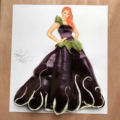 """Eggplant couture  What do you guys think?  I personally think that she  looks like a """"Dark Queen"""""""
