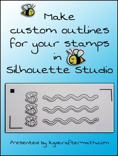 Custom outlines for stamps Great tutorial