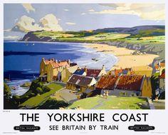 YORKSHIRE Coast (Robin Hood's Bay), Railway Posters4