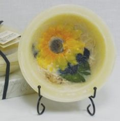 Habersham Wax Pottery Bowl Sunflower Lemon Vanilla | Don't you wish you could smell over the internet?  Trust us: it's fantastic.