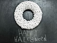 couronne idée originale halloween déco mur porte pas cher