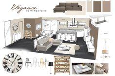 """Résultat de recherche d'images pour """"planche tendance architecture d'intérieur"""" Layout Design, Design De Configuration, Interior Presentation, Detail Architecture, Interior Design Boards, Style Deco, Home Deco, Interior And Exterior, Kitchen Design"""
