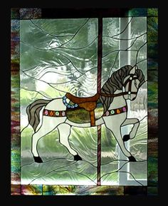 Stained Glass Heirlooms: 3rd Carousel Horse