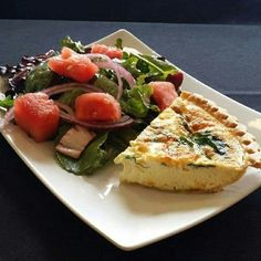 Vegetable Quiche Accompanied with a Watermelon Salad  #perkysbistro  #todaysspecial