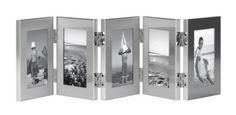 Amazon.com: Burnes of Boston C53323 5 Hinged Picture Frame, 2-1/2-Inch by 3-1/2-Inch, Brushed Silver: Home & Kitchen