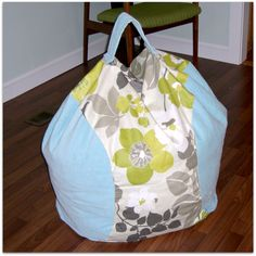 I have one heck of a tutorial for you today – make your own beanbag chair! Beware, this pattern is a DIY and requires a bit of math . Sewing Crafts, Sewing Projects, Sewing Ideas, Diy Crafts, Modern Wood Chair, Diy Bean Bag, Bean Bags, Big Comfy Chair, Cool Chairs