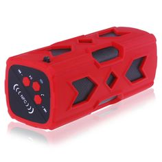 Portable Mini Speaker Outdoor Sports Boombox Bluetooth Stereo V4.0 NFC Speaker for most Android phones tablets laptop pc red #Affiliate