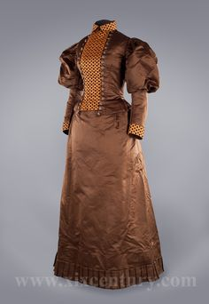Day dress and mantle ca. 1895