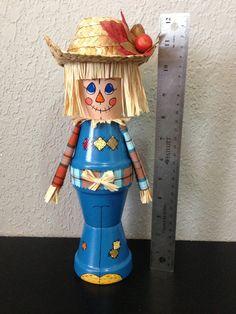 Terra Cotta Pot ScareACrows by jlhernandez76 on Etsy, $20.00