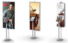Kiosks With Banner and Tablet