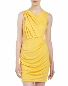 Jersey Dipped-Back Dress, Cadmium by Cut25 by Yigal Azrouel at Neiman Marcus Last Call. Fits like a dream!