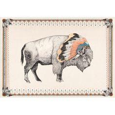 Cloud Buffalo Art Print