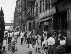 USA, New York City, Spanish Harlem, people in street - 42-34480789 - Rights Managed - Stock Photo - Corbis