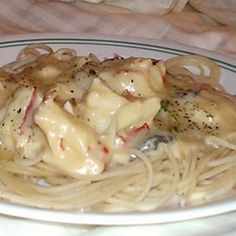 """Lobster Mornay Sauce. """"This recipe is very simple to make, and you can substitute crab or shrimp for the lobster. I use all three when we are craving seafood. Serve over rice or pasta."""""""