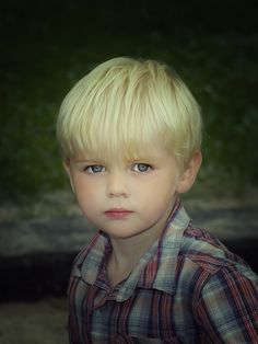 he may inherit his mother's blond hair when she was a child.