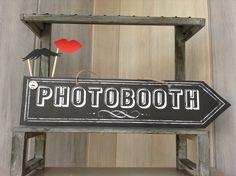 """Pancarte réception """"PHOTOBOOTH"""" pour mariage-baptême-anniversaire - décoration rétro vintage"""