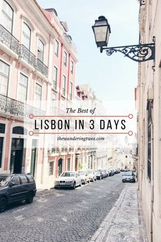The Best of Lisbon in 3 Days! This incredible 3-Day Itinerary allows you to see all of Lisbon + Sintra! Check it out!